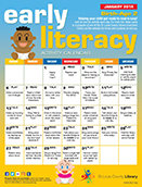 Early Literacy Activity Calendar for Birth to Age 2 - January 2019