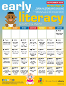 Early Literacy Activity Calendar for Birth-Age 2 - September 2018