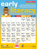 Early Literacy Activity Calendar for Birth to Age 2 - November 2018