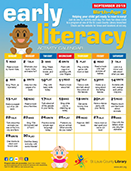Early Literacy Activity Calendar for September 2019 - Birth-Age 2