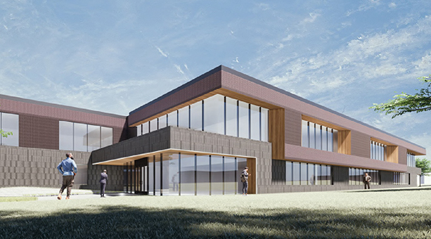 New Administrative Building - exterior rendering