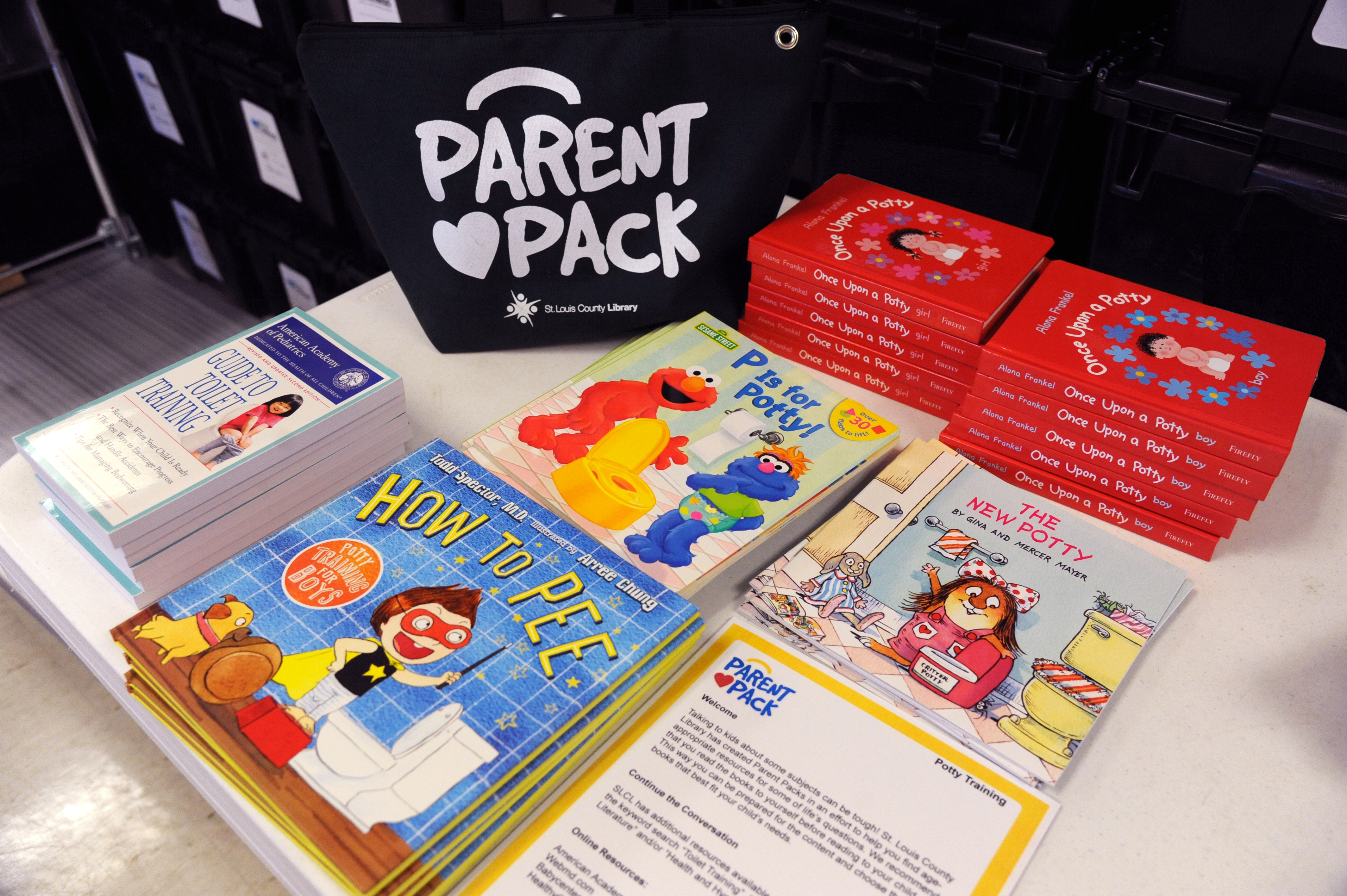 Parent Pack with books on potty training