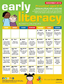 Early Literacy Activity Calendar for Preschool - November 2018