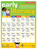 Early Literacy Activity Calendar for December 2020 - Preschool ages 3 to 5