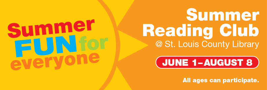 Summer Reading Club - June 1-August 8 - All ages can participate