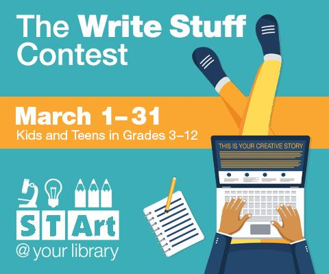 The Write Stuff Contest - March 1-31 - Kids and Teens in Grades 3-12